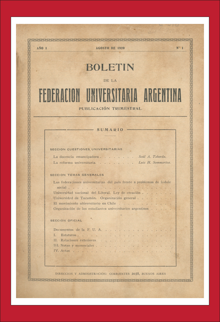 AméricaLee - Boletín de la Federación Universitaria Argentina
