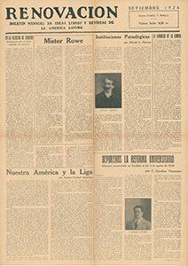 AméricaLee - Renovación septiembre 1924