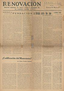 AméricaLee - Renovación abril 1925