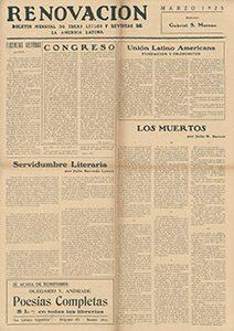 AméricaLee - Renovación marzo 1925