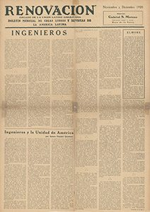 AméricaLee - Renovación noviembre-diciembre 1925